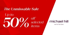 The Michael Hill Unmissable SALE is now on with up to 50% off selected items.