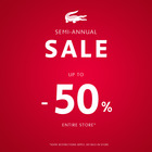 Enjoy our Semi-Annual Sale! Up to 50% off!*