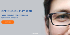 WE ARE NOW RE-OPEN FOR EYE EXAMS: 14TH MAY 2020 & REOPENING SPECIAL DISCOUNT CARD