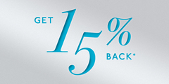 Get 15% Back on a Gift Certificate with the Purchase of $500 or More*