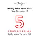 Holiday Bonus Points Week