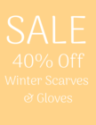 Winter Scarves & Mitts 40% Off