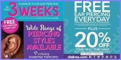 FREE EAR PIERCING EVERYDAY  每天免费穿耳