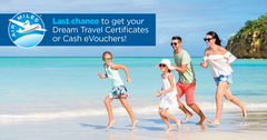 You only have until December 31st to exchange your AIR MILES® for Dream Travel Certificates or Cash e-Vouchers