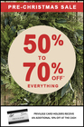 Pre-Christmas Sale...50%-70% Everything