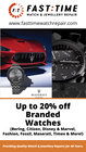 20% OFF NATIONALLY BRANDED WATCHES
