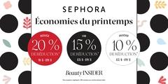 Économies du printemps en cours chez Sephora