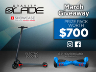 Gravity Blade March Giveaway!