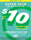 Super Cash Earn 6/10 - 7/12  !!