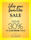 Shop Your Favourites Sale! - Save 30% on 2 or more pairs