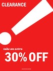 Additional 30% all clearance store wide!!! 01/16/20 to 01/18/20