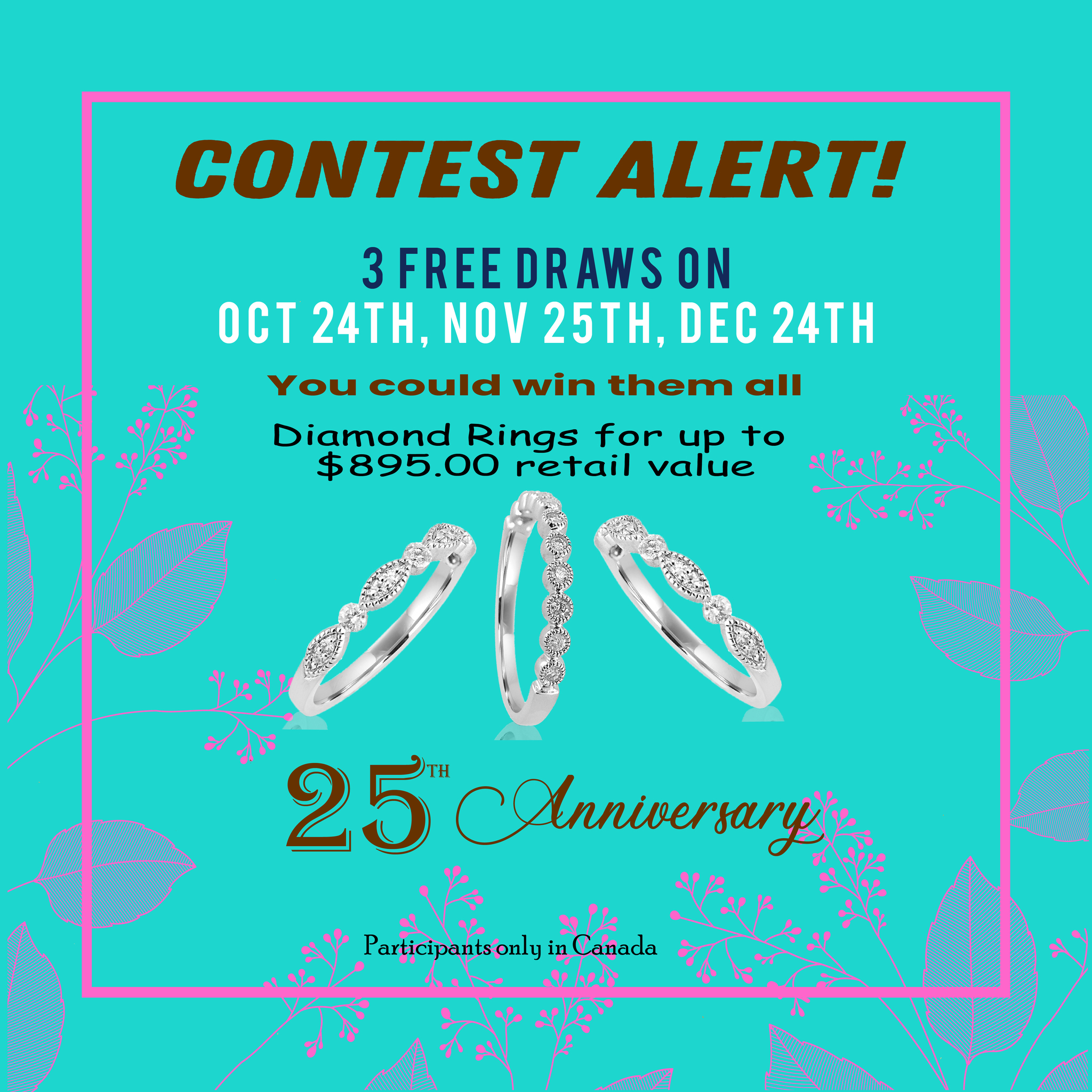 3 Diamond Rings Giveaway
