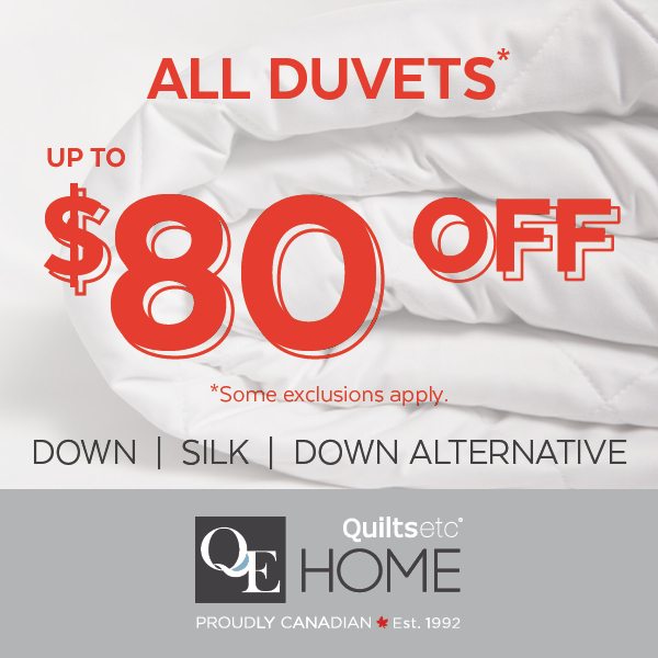 ALL* Duvets Up To $80 Off During Our Annual Winter White Sale!