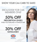 CAA Discount at LensCrafters