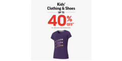 Kids Clothing & Shoes Up To 40% Off!