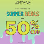 Summer Deals up to 50% off at Ardene