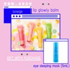 LANEIGE LIP GLOWY BALM WITH GIFT EYE SLEEPING MASK 5ML