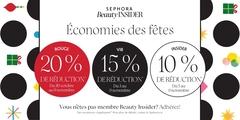 Sephora Beauty Insider - Économies des fêtes!