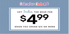 Get Indie the Bear for $4.99 When you spend $15 or more!