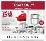 Hudson's Bay - One Day Sale!