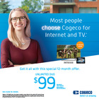 Find out why most people choose Cogeco for TV and Internet.
