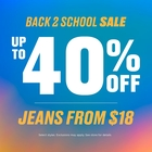 BACK 2 SCHOOL WITH BLUENOTES! UP TO 40% OFF + JEANS FROM $18*