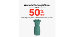Women's Clothing & Shoes Up To 50% Off Our Regular Price!