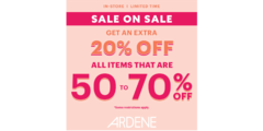 Save more with our SALE ON SALE promo!