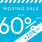 MOVING SALE // UP TO 60% + 10% OFF