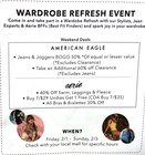 WARDROBE REFRESH EVENT!