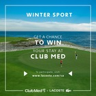 Win your stay at Club Med!