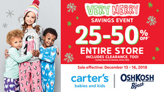 Very Merry Savings Event - 25-50% off entire store