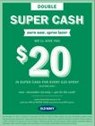 DOUBLE THE SUPER CA$H, 2X THE CHEER! SUPER CA$H DOUBLE EARN 12/20-12/24