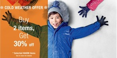 COLD WEATHER OFFER: buy 2 items, get 30% off