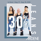Get 30% off jeans at Ardene