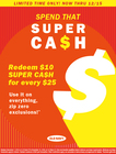 Super Cash Earn During Redeem
