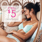 2nd bra at $5 with the purchase of a regular-priced bra