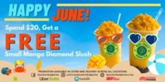 Free Mango Diamond Slush - When you spend more than 20$*