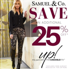 Save on Up Pants at Samuel & Co!