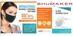 Antibacterial Masks now available at Shumaker!