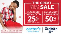 The Great Big Sale – 50% off Canada Day & Swim Shop