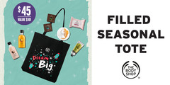 Dream big with our filled Seasonal Tote!
