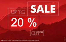 Up to 20% off select items!