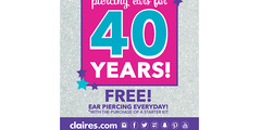Free Ear Piercing every day!