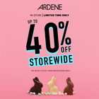 Get up to 40% off storewide at Ardene!