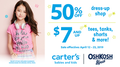 50% off dress-up shop / $7 & up doorcrashers