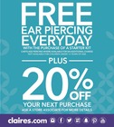 Free Ear Piercing Everyday the with  purchase of a starter kit