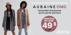 Aubaine OMG manteau de laine à 49$