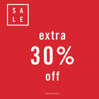 Extra 30% Off on Select Sale Styles