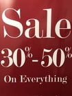 EVERYTHING 30% - 50% OFF
